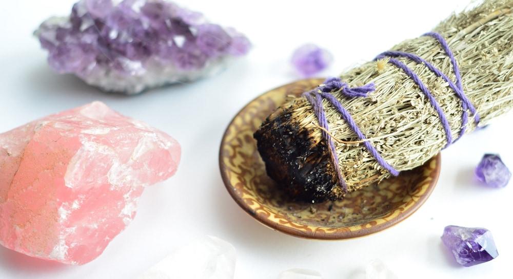 Smudging crystals