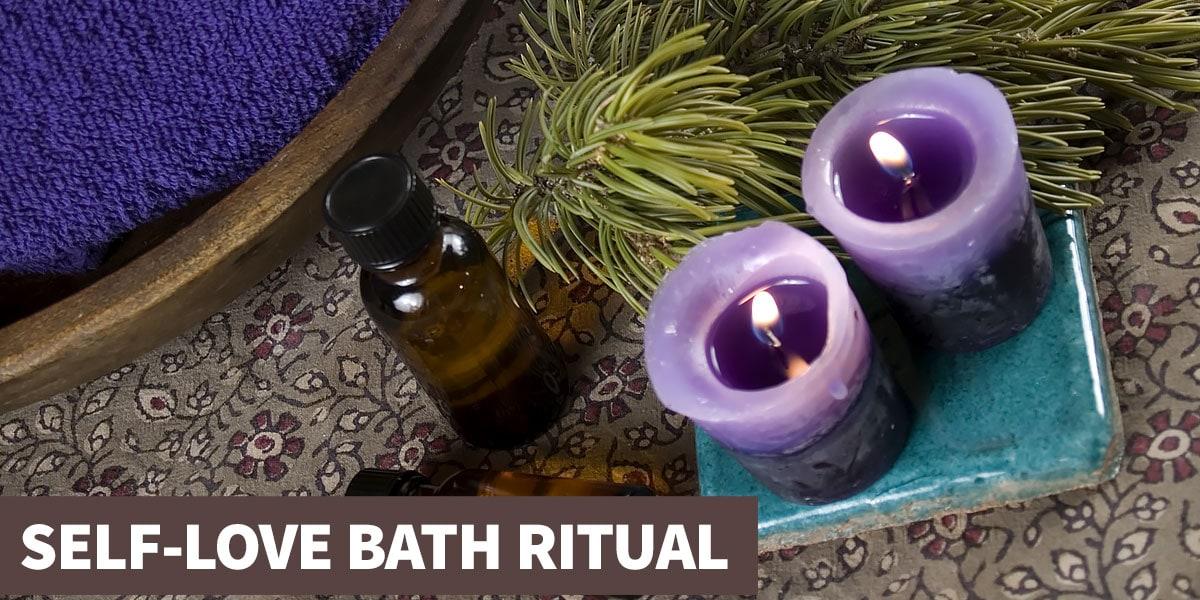 Self-love bath crystal healing