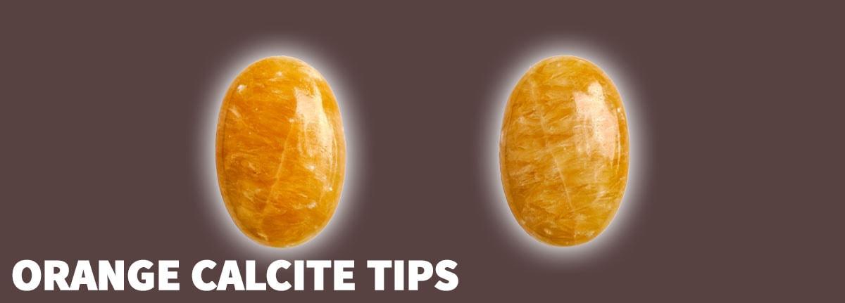 Orange Calcite Tips