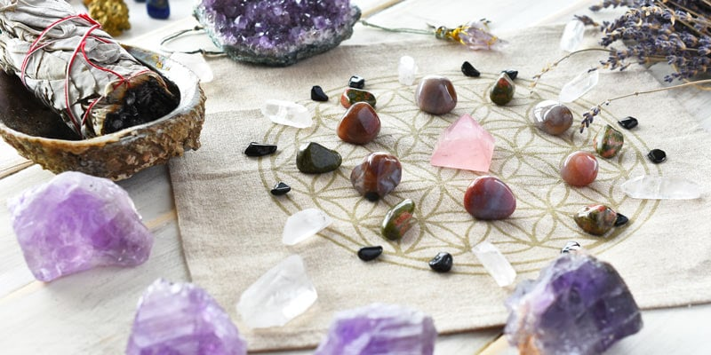 Example of a crystal grid